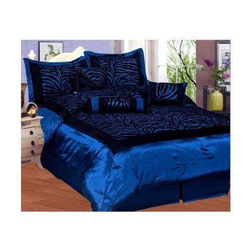 Blue Zebra Print Bedding Ebay