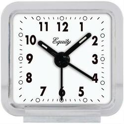 21038 Equity by La Crosse Clear Quartz Analog Travel Alarm Clock