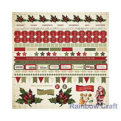 Kaisercraft 12x12 Sticker Sheet Collection Christmas theme 24 selections - Yuletide