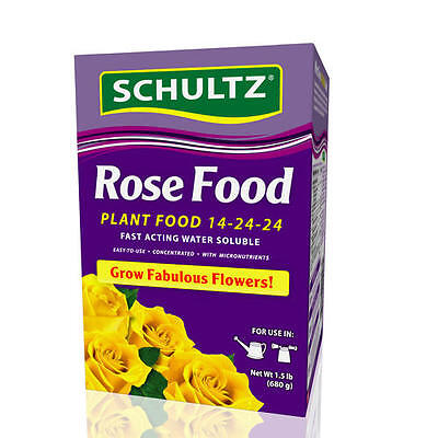 (Schultz Rose & Flower Plant Food 14-24-24 Fast Acting Water Soluble 1-1/2 ..)