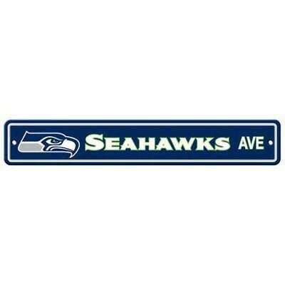 Seattle Seahawks Ave Bar Home Decor Plastic Street Sign - Seattle Seahawks Decor