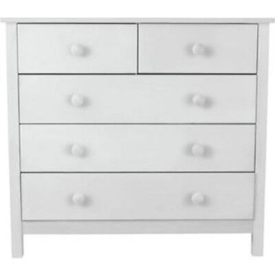 Kids Scandinavia 3+2 Drawer Chest - White