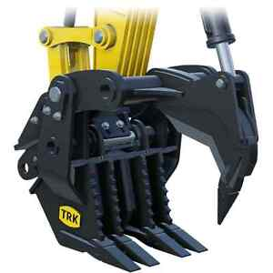 Excavator Rakes, Thumbs, Grapples, Quick Couplers & more