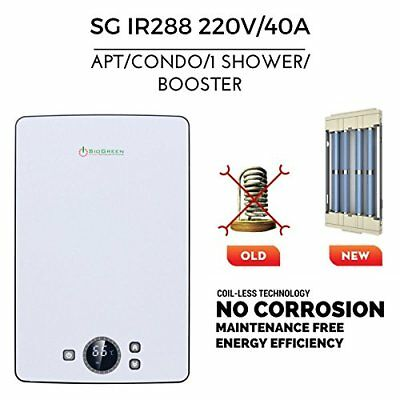 SioGreen IR288 POU Infrared Electric Tankless Water Heater 220V/8.8kW/40A. Apart