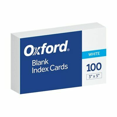 Oxf40135 Oxford Blank Index Cards 3 X 5 White 100 Per Pack