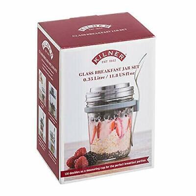 Kilner Breakfast Jar Set 0.35l/11.8 Us fl oz Glass Jar Set Stainless Steel Spoon