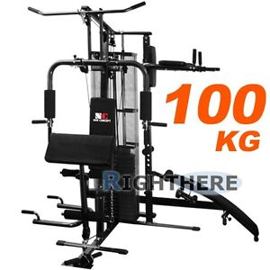 NEW-MULTI-STATION-HOME-GYM-DUMBBELL-100KG-WEIGHTS-BENCH-FITNESS-HEAVY-DUTY-FRAME