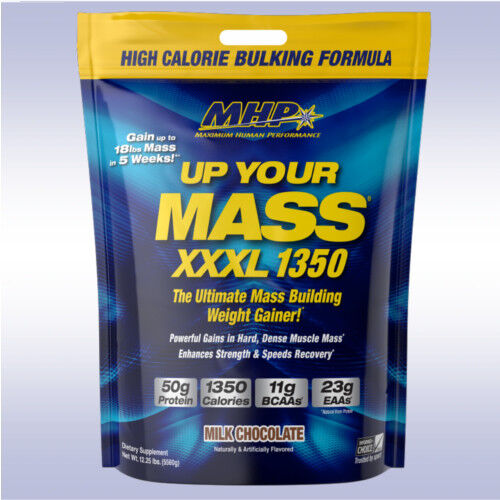 MHP UP YOUR MASS XXXL 1350  50g protein weight gainer dark m