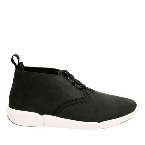 Clarks Men's Triflow Mid Black Nubuck Casual Shoes 26124357 1