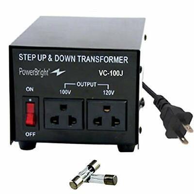 PowerBright VC100J 100W Step Up & Down Japan Transformer Convert 120 to 100 v