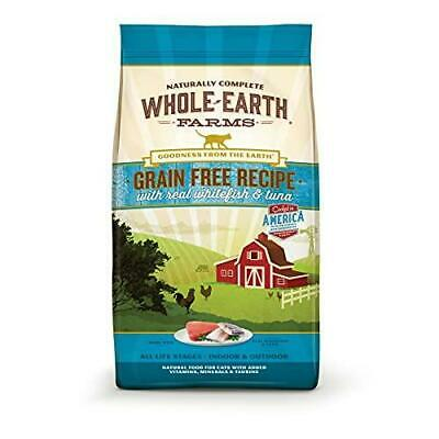 Whole Earth Farms Grain Free Whitefish & Tuna Recipe Dry Cat Food, 10 lb (86086)