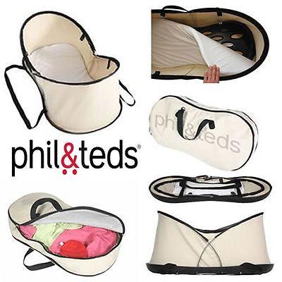Phil&Teds Nest Portable Bassinet and Travel Bag Beige Brand New! Free (Teds Travel Bag)