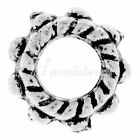 Antiqued Silver Round Jewellery Making Beads