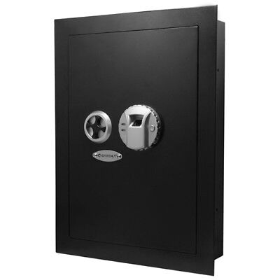 Barska Biometric Wall Hidden Safe Fingerprint Lock Security Box Ax12038