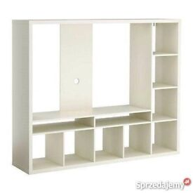 IKEA white TV unit stand with shelves