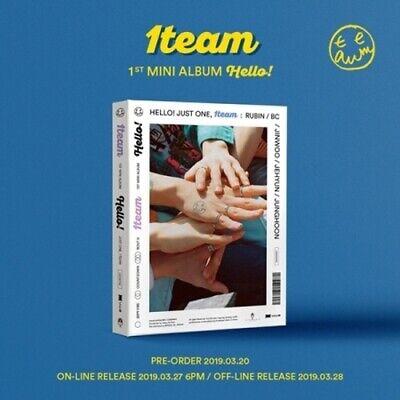 1Team-[Hello!] 1st Mini Album CD+PhotoBook+Lyrics+PhotoCard+Post+Sticker