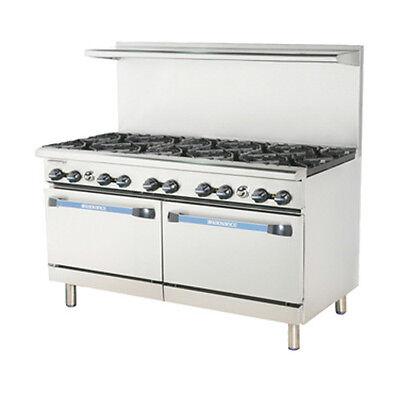 Turbo Air Tar-10 Radiance 60 Gas Restaurant Range With 2 Standard Ovens