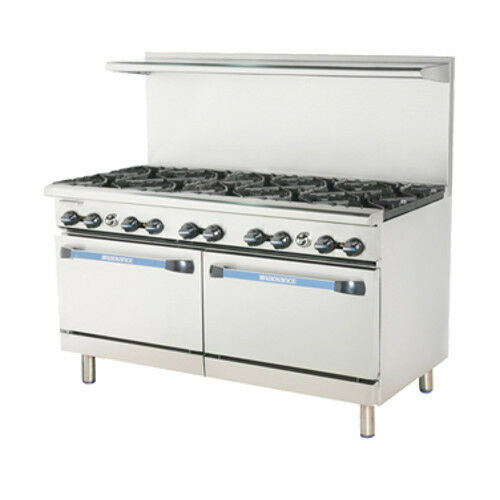 "Turbo Air Tar-10 Radiance 60"" Gas Restaurant Range With (2) Standard Ovens"