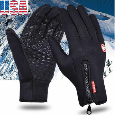 (Men Women Winter Warm Gloves Windproof Waterproof Thermal Touch Screen Mittens)