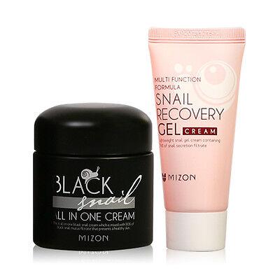 Mizon Black Snail All In One Cream 75ml+Snail Recovery Gel Cream 45ml