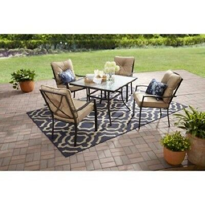 Patio Dining Set Outdoor Table and 4 Chairs Furniture Sets Clearance 5 Piece New ()