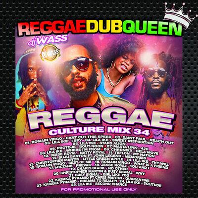 DJ Wass Reggae Culture Vol.34 Mixtape. Reggae Mix CD.  May 2020