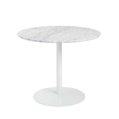 Marble top round dining table ebay for Round stone top dining table