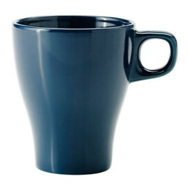 70x Dark turquoise (Navy) coffee cups (IKEA FÄRGRIK mugs)