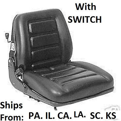Suspension Forklift Seat W Switch. Clark Toyota Yale