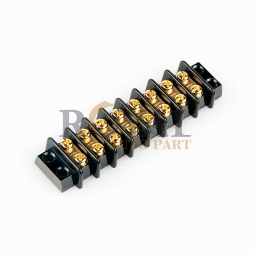 8 POSITION 20A WIRE CONNECTOR SCREW BARRIER GOLD TERMINAL STRIP BLOCKS