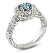 Antique Blue Diamond Engagement Ring