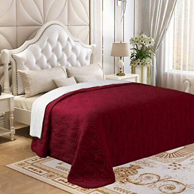 Embroidered Quilt - Microfiber Oversized King Size Quilt Sup