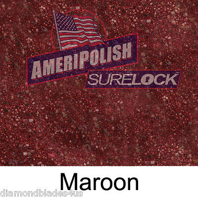 1 Gl. Maroon Concrete Color Dye For Cement Stain Ameripolish Surelock Color