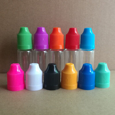 Childproof Dropper Bottle 10ml Squeezable Tip Ldpe Pet Drop Liquid New