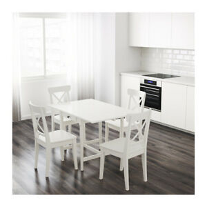 IKEA Ingatorp Drop Leaf Dining Table 2 Chairs