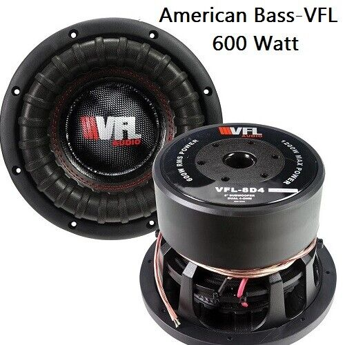 """VFL8D4 Competition 8"""" Subwoofer Audio Speaker American Bass"""