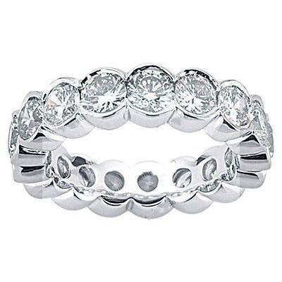 (2.70 carat round DIAMOND Eternity Ring Wedding Band, Half Bezel set 0.15 ct each)
