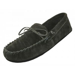 MEN-039-S-MOCCASINS-BLACK-HOUSE-SLIPPERS-INDOOR-OUTDOOR-HOME-SLIP-ONS