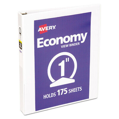 Avery 05711 Economy View Binder With Round Rings White