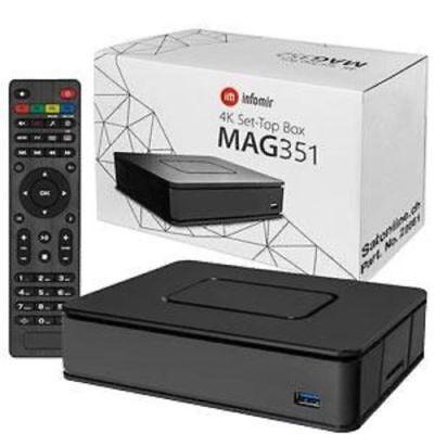 Genuine Mag 351/352 Set Top Box IPTV Linux 4K UHD HEVC | Wifi and Bluetooth