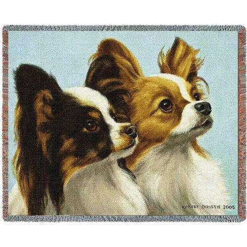 Throw Tapestry Afghan - Papillon by Bob Christie IN STOCK