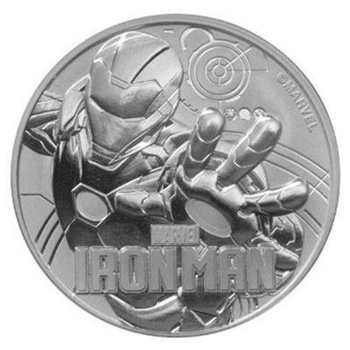 Tuvalu 1 Dollar 2018 Iron Man Marvel Serie (4.) 1 Oz Silber Stempelglanz ST