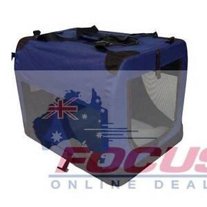 Large Portable Soft Pet Dog Crate Cage Kennel Blue North Melbourne Melbourne City Preview