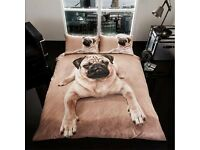 DOG DUVET SET - KING SIZE