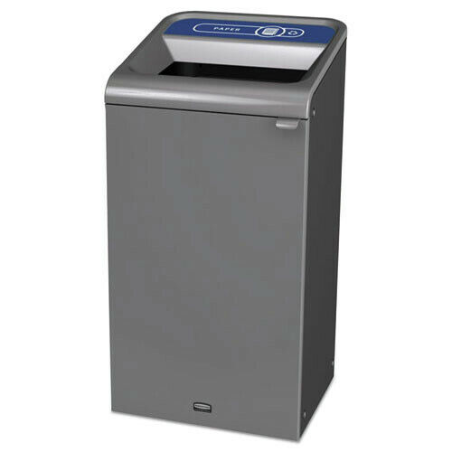 Rubbermaid Commercial RCP1961623 23 gal Recycling Waste Receptacle - Gray New