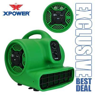 Xpower P-430at 13 Hp Air Mover Carpet Dryer Blower Fan W Timer Daisy Chain