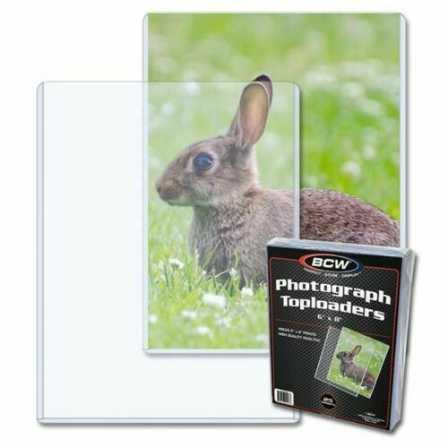 New (3 Pack) BCW 6x8 Rigid Hard Plastic Photo / Print Topload Holders 6 x 8