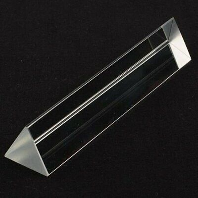 4in 100mm Optical Glass Equilateral Prism Teaching Light Spectrum Top Usa Seller