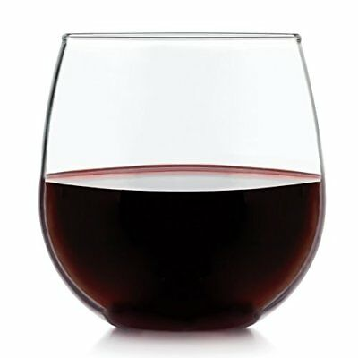 Libbey Stemless 4-piece Red Wine Glass Set, NEW