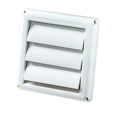 Spurr-Vent Louvered Outdoor Dryer Vent Cover White 4
